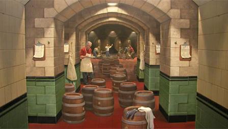 3D Building Art - Tunnel of Barrels