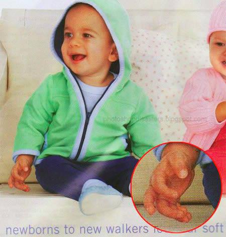 Photoshop Mistakes - Mutant Baby