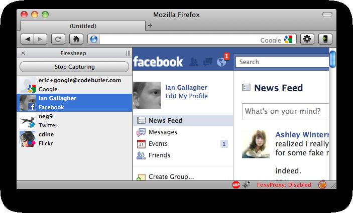 Firesheep Facebook Hijack