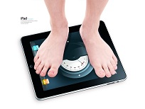 Daily Burn iPad Weight Scale April Fools