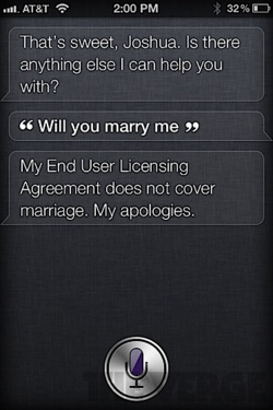 Siri - iPhone 4S - Marriage