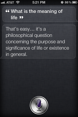 Siri - iPhone 4S - Meaning of Life 2