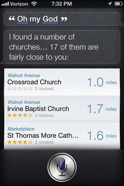 Siri - iPhone 4S - Oh My God