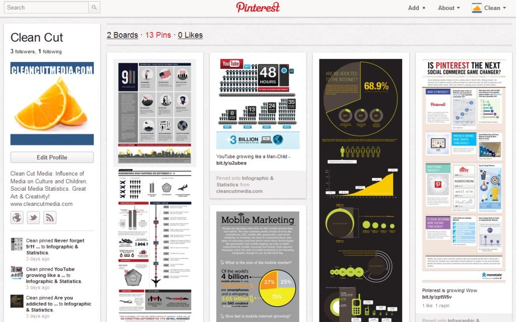 Pinterest Dashboard Screenshot