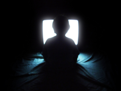 Child Watching TV Media - Hurts!