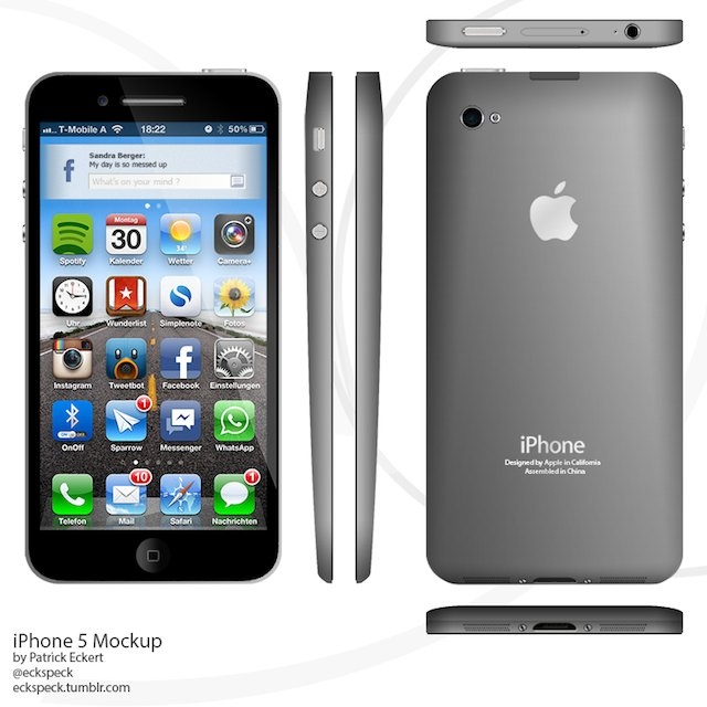 iPhone 5 Design Mockup - Tear Drop